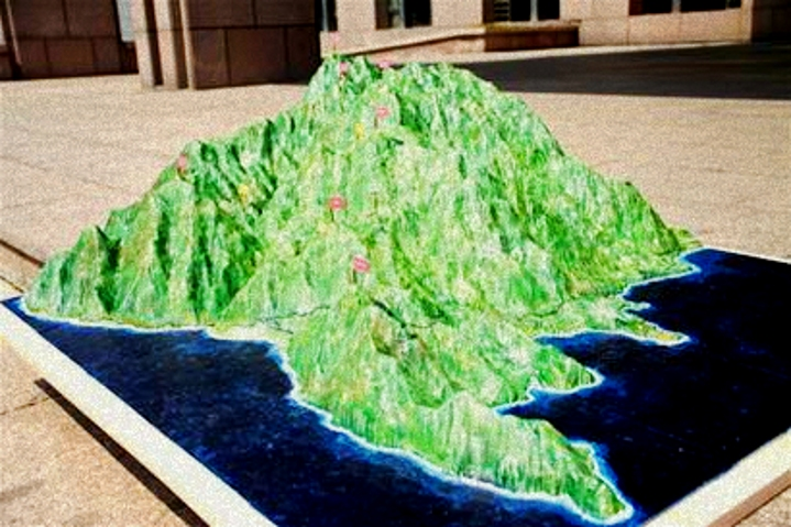 崂山景区首次用3D打印山体模型 国内尚属首次