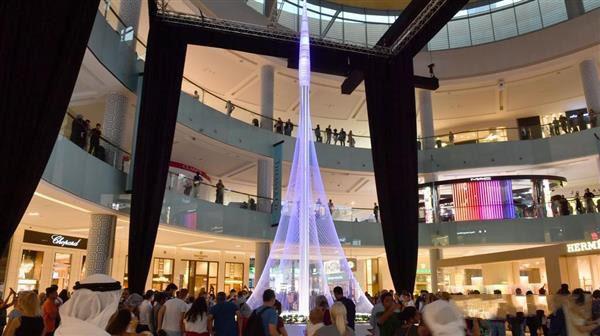 未来第一高楼迪拜河港塔的10米微缩模型! - 图片