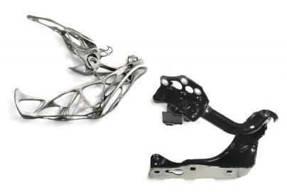 轻量化的3D打印汽车引擎盖铰链