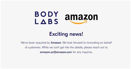 亚马逊收购人体3D模型公司Body Labs,或改变时尚界