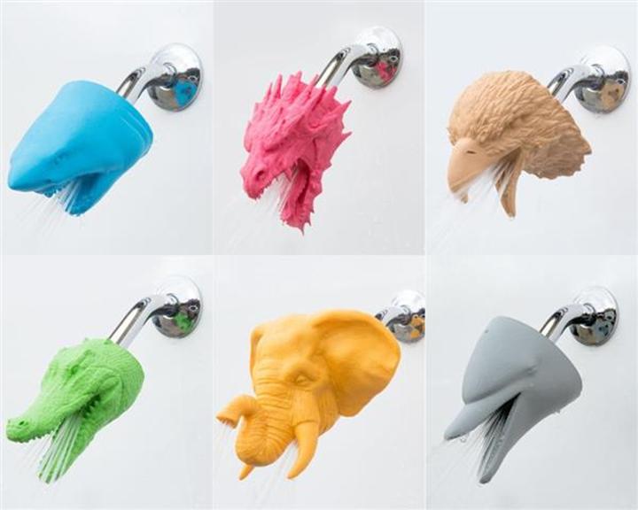 增加兴奋点?3D打印动物淋浴喷头问世,时尚时尚最时尚
