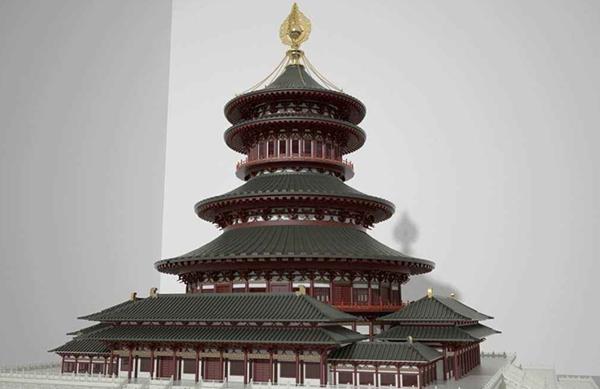 魔猴网3D打印精品视频案例:3D打印明堂建筑模型