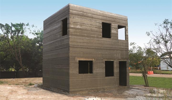 L&T建筑公司在106小时内完成了印度第一座两层建筑的3D打印 - 图片