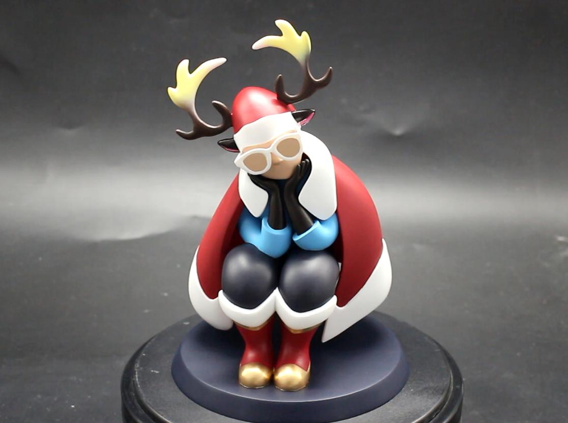 魔猴网3D打印案例:3D打印圣诞老人玩偶 - 图片