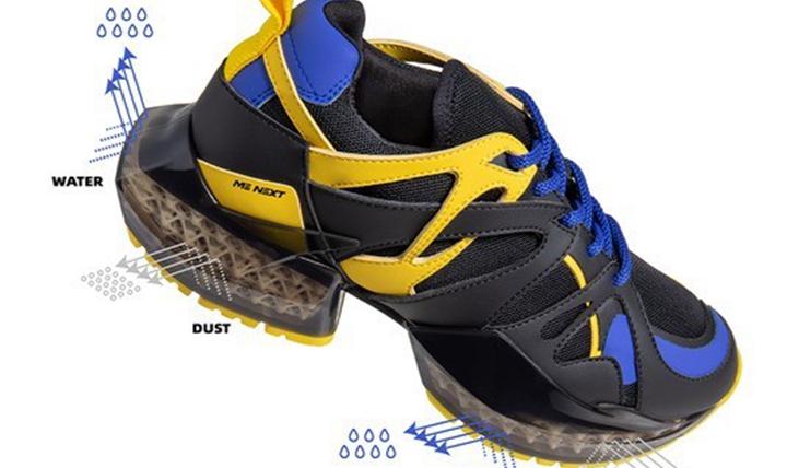 超强减震能力的3D打印运动鞋10月上市