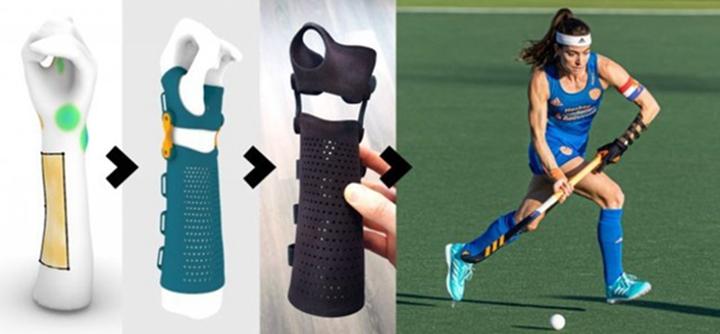 3D打印动态支架帮助荷兰队再度蝉联欧锦赛 - 图片