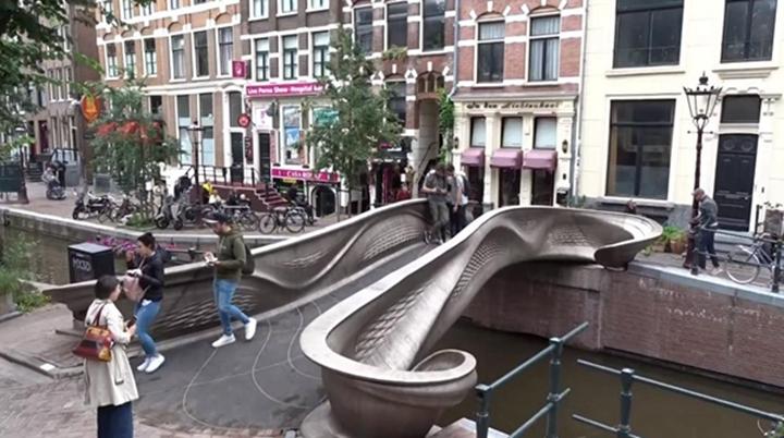历时两年多,荷兰的3D打印不锈钢桥终于用上了 - 图片