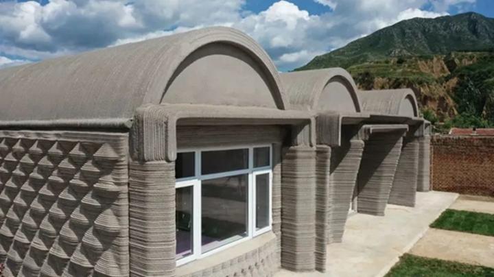 两室一厅106平,清华大学徐卫国教授团队3D打印混凝土农家宅 - 图片