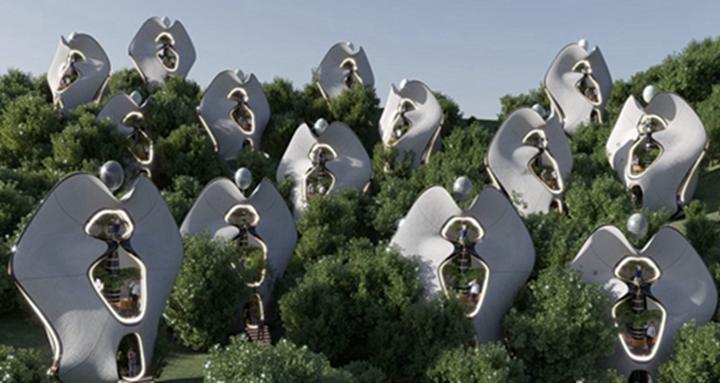 """建筑师建造""""世界上第一个""""钢3D打印外骨骼模块化房屋"""