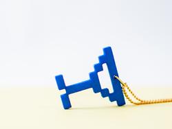 8位像素项链——当极客遇见美丽,3D打印像素风格项链