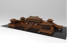 像素化故宫模型
